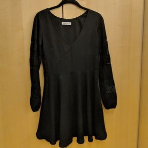 Black Abercrombie and Fitch lace dress
